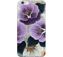 Purple Pansies and White Daisies  iPhone Case/Skin