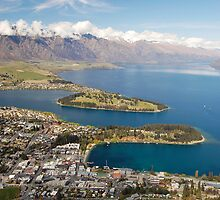 Queenstown From Above by Robert Scammell