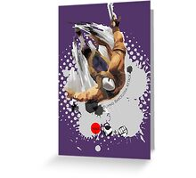 Flying Barcelona Attack Greeting Card