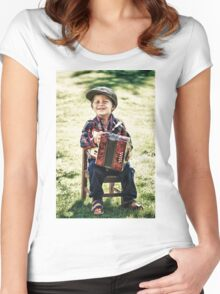 retro boy Women's Fitted Scoop T-Shirt