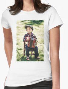 retro boy Womens Fitted T-Shirt