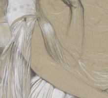 'Jaroslava Mucha' by Alphonse Mucha (Reproduction) Sticker