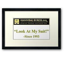 Criminal defense attorney Hannibal Buress Framed Print