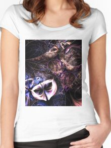 The Mask of Love Women's Fitted Scoop T-Shirt