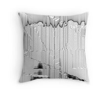 Refracture of the False Mend // Blackline Throw Pillow
