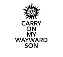 Carry on my Wayward Son Photographic Print
