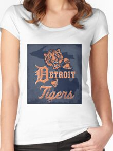 detroit tigers Women's Fitted Scoop T-Shirt