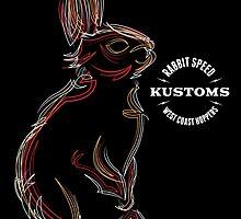 Rabbit Speed Pinstripe Bunny Two by Mistersid