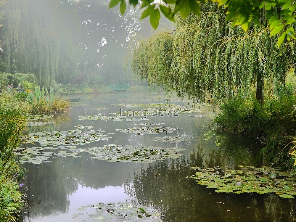 "My interpretation of Monet's ""Water-Lily Pond and Willow"". by Larry Lingard-Davis"