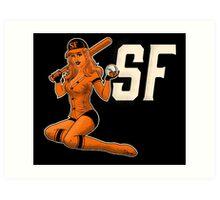 SF Giants Pin-Up Girl 1 Art Print