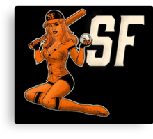 SF Giants Pin-Up Girl 1 Canvas Print