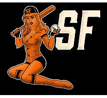 SF Giants Pin-Up Girl 1 Photographic Print