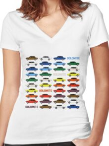 Triumph Dolomite Rainbow Women's Fitted V-Neck T-Shirt