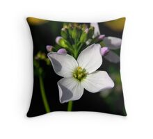Lady's Smock or Milk Maid. Throw Pillow