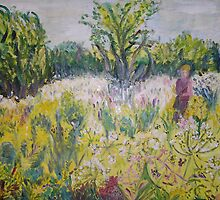 Yellow meadow by Ruth Vilmi