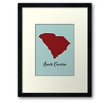 South Carolina - States of the Union Framed Print