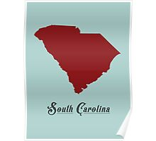 South Carolina - States of the Union Poster