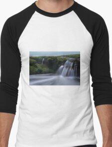 London Bridge Portsea - incoming tide  Men's Baseball ¾ T-Shirt