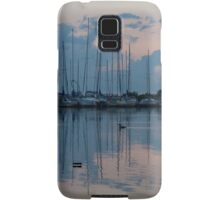 Pink and Blue Peace - Still Sailboat Reflections  Samsung Galaxy Case/Skin