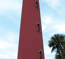 Ponce Inlet lighthouse by Larry  Grayam