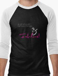 Classy and Fabulous! Men's Baseball ¾ T-Shirt
