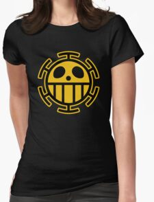Trafalgar Law Heart Pirates Logo Womens Fitted T-Shirt