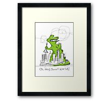 Hey! Small world! Framed Print