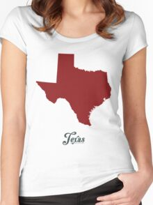 Texas - States of the Union Women's Fitted Scoop T-Shirt