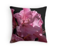 """The Rhododendron"" ~ More than just a pretty pink face... Throw Pillow"