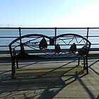 Ornate Bench, Southend Pier by MidnightMelody