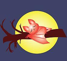 Sleepy baby bat by rawrkelsey