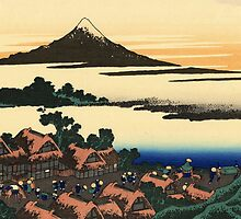 'Dawn at Isawa in the Kai Province' by Katsushika Hokusai (Reproduction) by Roz Abellera Art Gallery