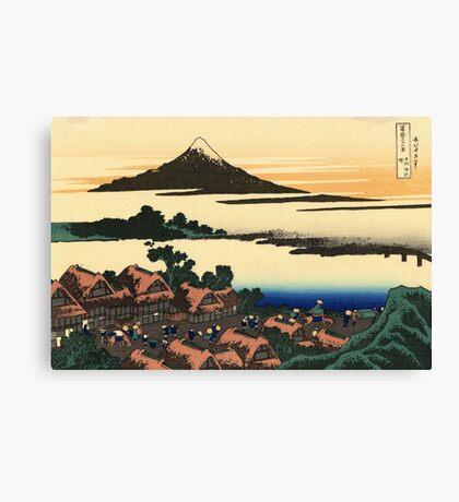 'Dawn at Isawa in the Kai Province' by Katsushika Hokusai (Reproduction) Canvas Print