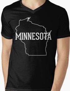 Wisconsin Minnesota Mens V-Neck T-Shirt