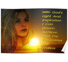 With God's Light and Inspiration Poster