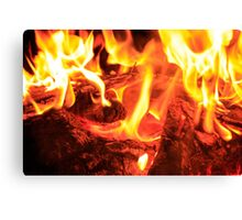 Fire and Nail Canvas Print