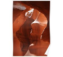 orange rocks at antelope canyon Poster