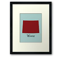 Wyoming - States of the Union Framed Print