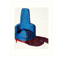 Blue Chair Art Print