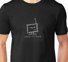 """Sarcastic Robot - """"leave me alone"""" black Unisex T-Shirt"""