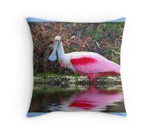 Roseate Spoonbill Throw Pillow