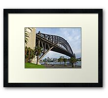 Dawes Point view of the Sydney Harbour Bridge Framed Print