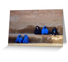 LADIES AT THE WALL - MOROCCO Greeting Card
