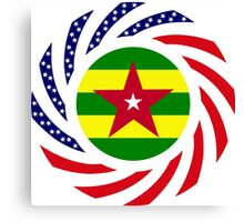 Togo American Multinational Patriot Flag Series Canvas Print