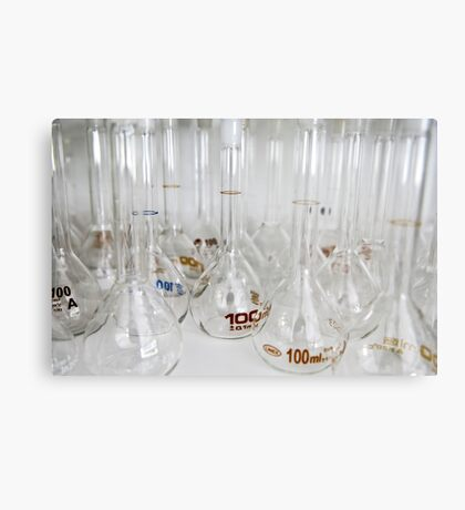 Belly test tubes standing in a chemistry lab Metal Print