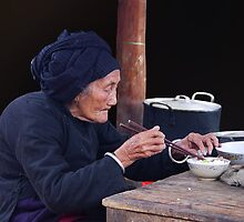 BREAKFAST AT BAC HA - VIETNAM by Michael Sheridan