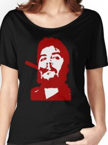 Che Guevara Cigar On Women's Relaxed Fit T-Shirt