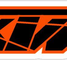 KTM Black on Orange Sticker