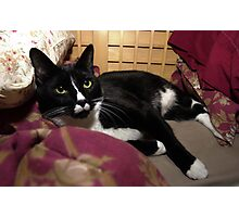 Simon in bed Photographic Print