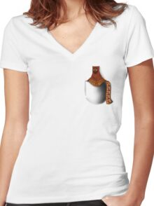 Journey: Travel Size Traveler Women's Fitted V-Neck T-Shirt